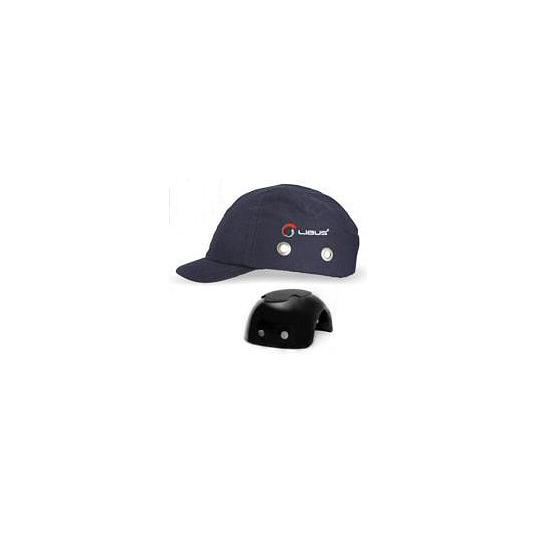GORRAS LIBUS CON CASQUETE PLASTICO (BUMP CAP) AZULES - VISERA 3 CM